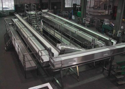 grading with modular conveyor belt