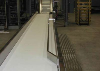 grading with PVC conveyor belt