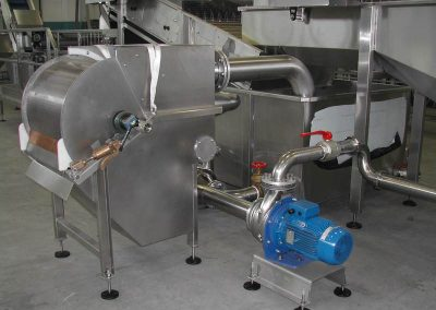 water filtering with drum